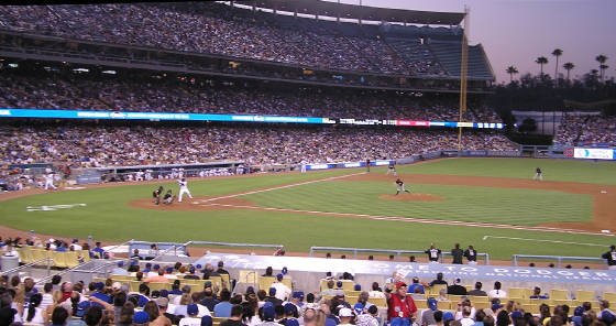 View from the 1st base side - Dodger Stadium