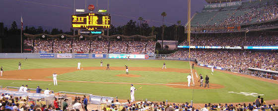 Nightfall at Dodger Stadium