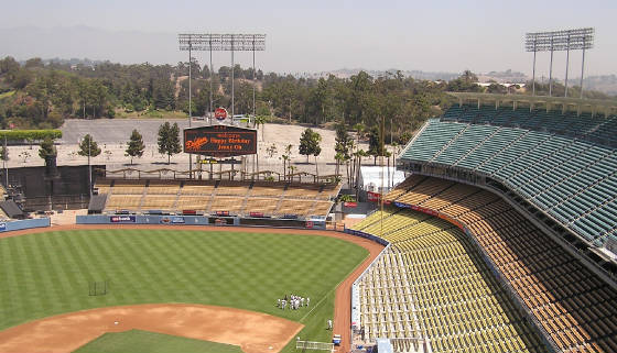 Looking towards Right at Dodger Stadium