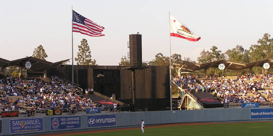 The flags are always waving at Dodger Stadium